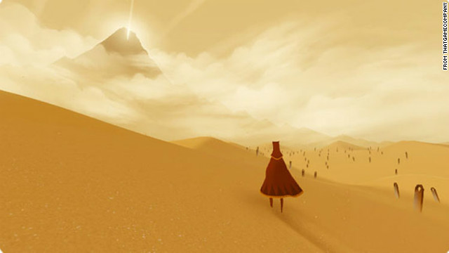 "Without a word of dialogue, ""Journey"" transports players to a magical land where discovery is the object of the game."