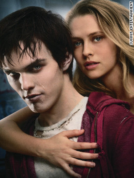 Nicholas Hoult and Teresa Palmer star in &quot;Warm Bodies,&quot; based on the novel by Isaac Marion. Hoult plays a zombie who falls for Julie (Palmer), the girlfriend of one of his victims. Rob Corddry, Dave Franco and Analeigh Tipton also star in the comedy-horror-romance flick, to hit theaters on February 1.
