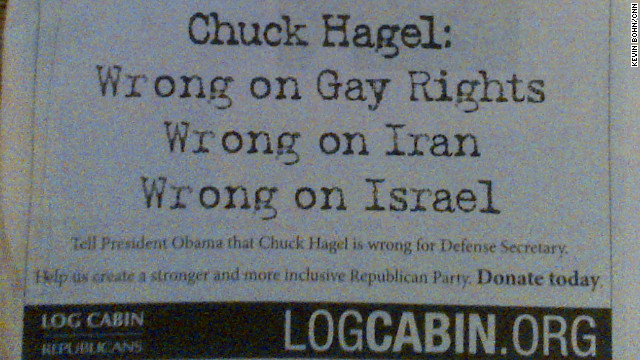 Log Cabin Republicans take out ad against Hagel