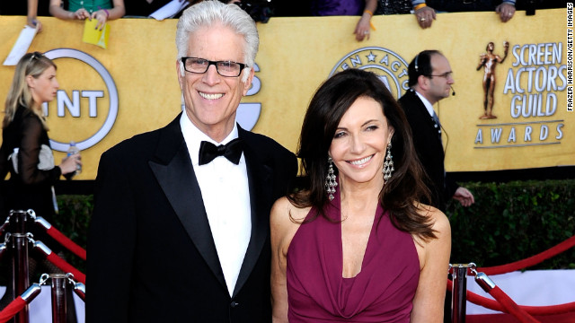 Danson and Steenburgen arrive at the Screen Actors Guild Awards in 2012.