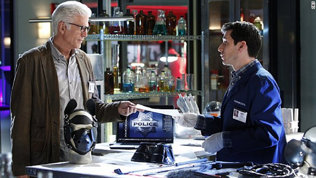 Ted Danson began starring on CBS' &quot;CSI: Crime Scene Investigation&quot; in 2011. He's pictured here with Jon Wellner, who plays Henry Andrews on the show.