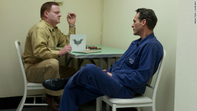 Joaquin Phoenix, right, cements his reputation as a top actor in Paul Thomas Anderson's cryptic drama about a World War II veteran looking for spiritual nourishment with a cult guru (Philip Seymour Hoffman as a thinly disguised L. Ron Hubbard-type).