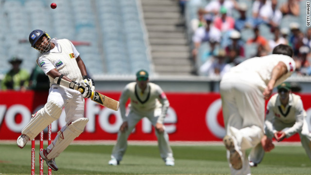 The Australian bowlers once again tested the visiting batsmen, who struggled to cope with short-pitched deliveries.