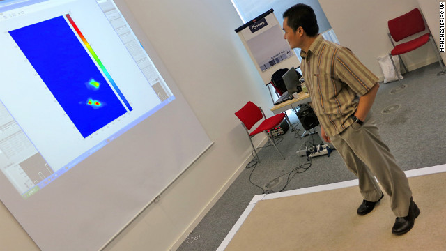 "Researchers at the University of Manchester in the UK designed a ""smart carpet"" that can detect when a person has fallen and call for help."