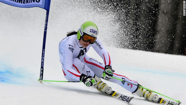 Austria's Anna Fenninger won the women's World Cup giant slalom at Semmering, Austria. 