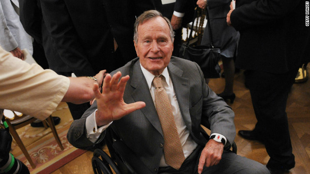 Bush still in hospital ICU, but singing with doctors