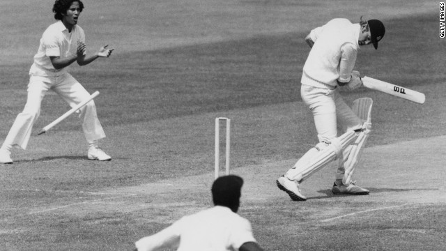 "Born in South Africa, he went on to captain England due to his Scottish father. In 1976 he was made to pay for comments that he would make the West Indies ""grovel"" as the tourists unleashed a fearsome pace attack."
