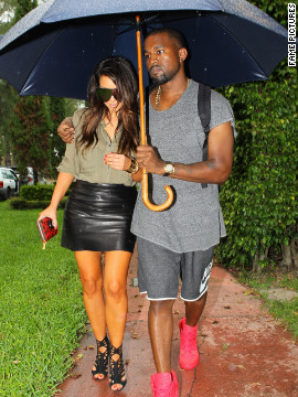 Kim and Kanye cozy up in Miami in October. 