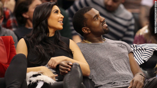 Kim and Kanye were all smiles as they cuddled up courtside at the Denver Nuggets and Los Angeles Clippers game on December 25. By the following Sunday, Kanye spilled the beans that they're expecting.