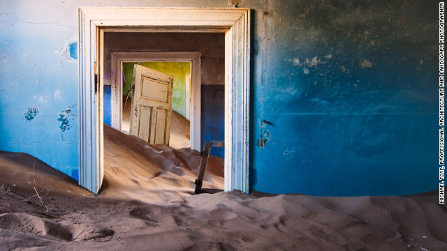 Kolmanskop Diamond Camp in Skeleton Coast, Namibia. Bushmen considered Namibia's Skeleton Coast &quot;The Land God Made in Anger.&quot;