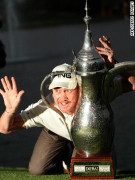 2010 was a big year for Jimenez, who won the first of three titles that season at the Dubai Desert Classic in February.