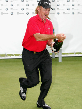 Jimenez won five tournaments in 2004, the last of which was the BMW International Open in Munich, Germany.
