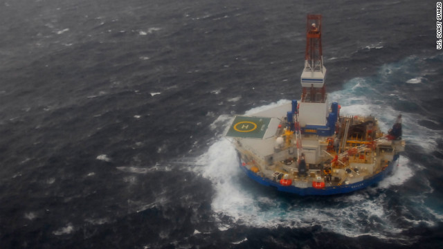 The Kulluk had been drilling in the Beaufort Seat and was headed to its winter home when the tug boat towing it lost power.