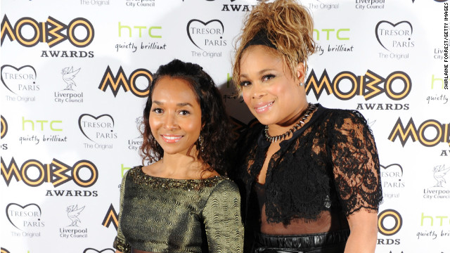 Chilli and T-Boz of TLC attended the 2012 MOBO awards at Echo Arena on November 3, 2012 in Liverpool, England. 