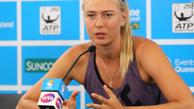 Maria Sharapova explains to the media the reasons for her pull out from the Brisbane International tournament.