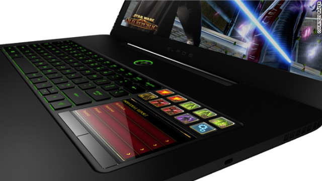 The new Razer laptop has an interface tailored to playing video games.