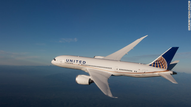 United is starting its first international service using the 787 Dreamliner on Thursday.