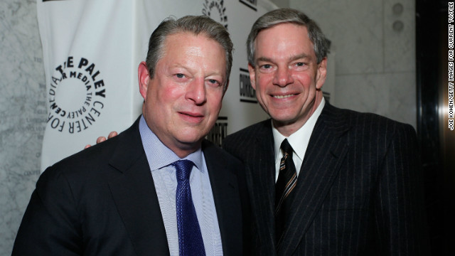 Al Gore, and Joel Hyatt, co-founders of Current TV, announced the sale of the network.