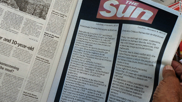 El diario britnico The Sun reclama a Argentina las Islas Malvinas