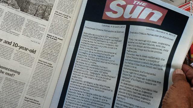 El diario británico The Sun reclama a Argentina las Islas Malvinas