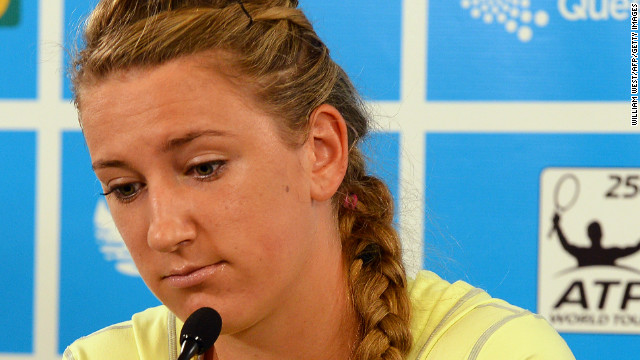 Victoria Azarenka explains her decision to pull out of the semifinals of the Brisbane International tournament, where she was due to face Serena Williams, due to a toe infection.
