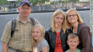 John and Jessica Norton, with their children Grace, Emma and Jack. Grace, on the left, has food allergies.