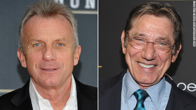 Joe Montana, left, and Joe Namath today.