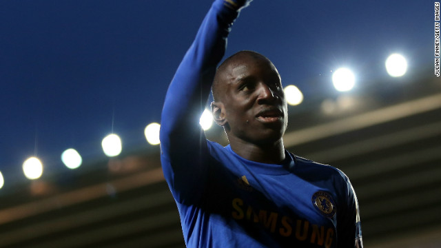Demba Ba celebrates his second and Chelsea's fourth goal in the third round victory of Southampton in the FA Cup.