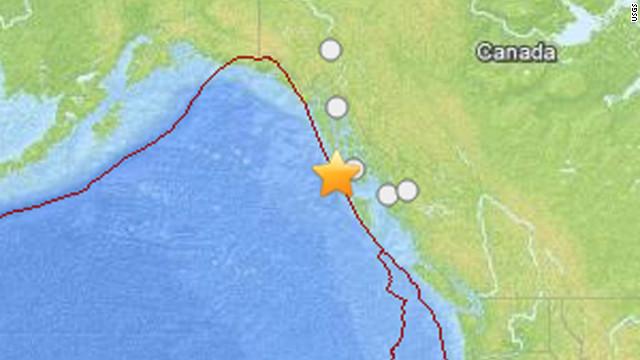 Un terremoto de 7,5 grados sacude las costas de Alaska y Canadá