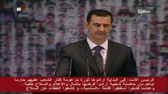 """Al Asad presenta propuesta de salida de crisis y dice que enemigos de Siria """"irán al infierno"""""""