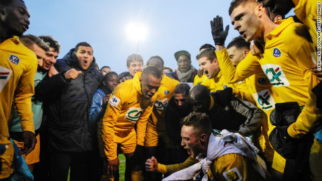 "The Epinal celebrations look set to go long into the night. ""It's magical and now we hope to reach the last 16 and make history,"" Epinal goalkeeper Robin told French radio."