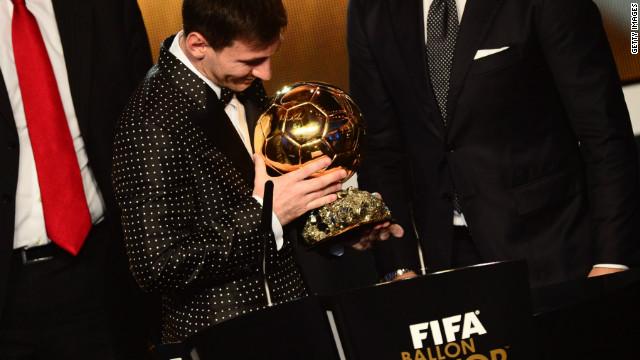 Lionel Messi gana el Balón de Oro por cuarta vez consecutiva