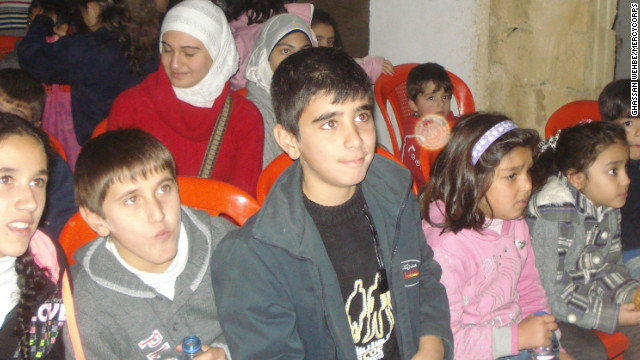 Syrian refugee children at the Mercy Corps support center in Lebanon's Bekaa Valley.