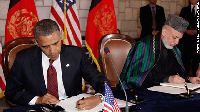 The last time Presidents Obama and Karzai met was in May in Kabul, when they signed a pact regarding U.S. troop withdrawal.