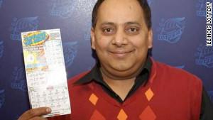 Urooj Khan, 46, won $1 million before taxes on an Illinois lottery scratch ticket in June.