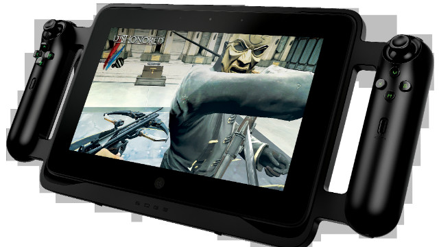 The Razer Edge, debuted Tuesday at CES, is a gaming tablet that synchs with keyboards, controllers and other accessories