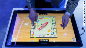A game of Monopoly is displayed on Lenovo\'s Horizon table PC at last year\'s CES.