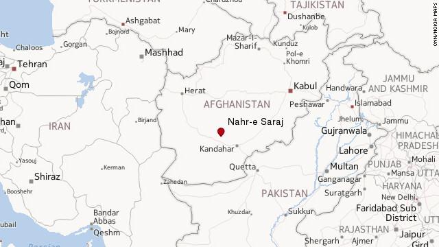 Map: Nahr-e Saraj, Helmand province