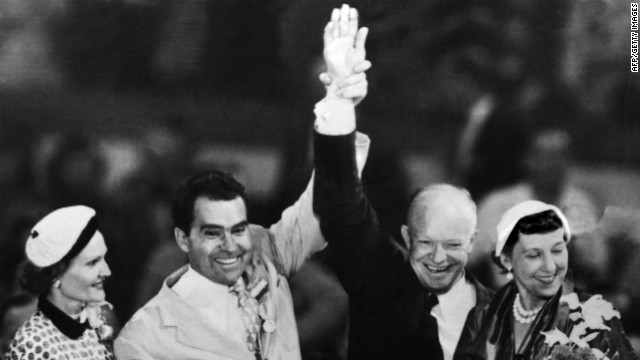 Republican presidential nominee Dwight D. Eisenhower and his running m
