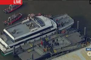 Un ferry se estrella contra muelle en Nueva York