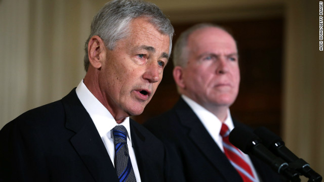 Hagel trying to set record straight at Pentagon
