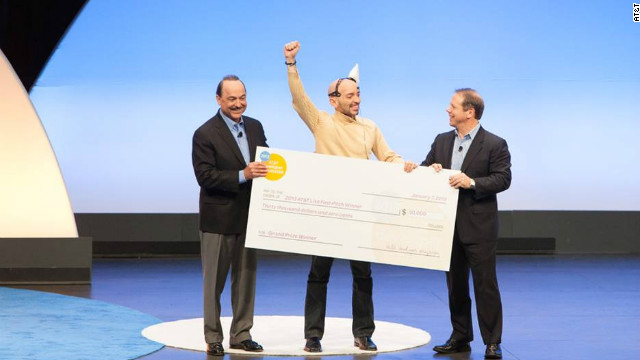 Ruggero Scorcioni's hack was voted the winner of the AT&T Hackathon and he won the first prize of $30,000.