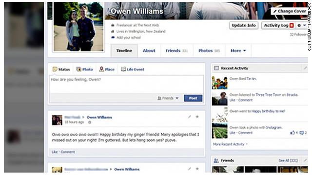 Tu perfil de Facebook cambiará… ¡Otra vez!