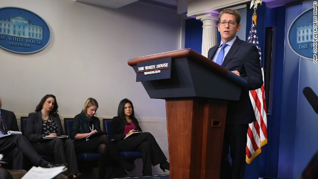 Press secretary Jay Carney tells reporters the White House will not negotiate with Congress about raising the debt ceiling.