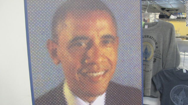 Only 2,013 Chuck Close-designed Inauguration posters at $100 each are available at the official Obama Inaugural store.