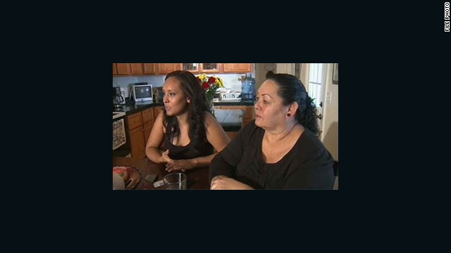 Erika Andiola, left, said her mother, Maria Minerva Guadalupe Arreola, was on a bus being deported before her phone callas got her mother released.