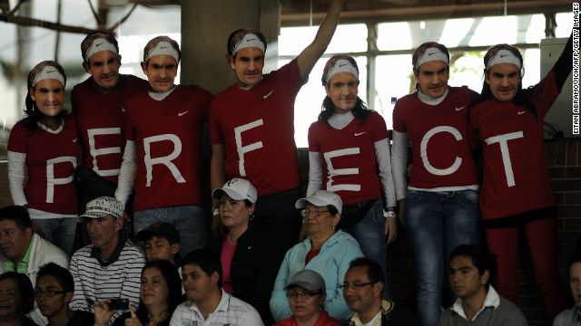 The 31-year-old said he was touched by the appreciation he received from South American fans. Here supporters in Bogota wear masks with his picture.