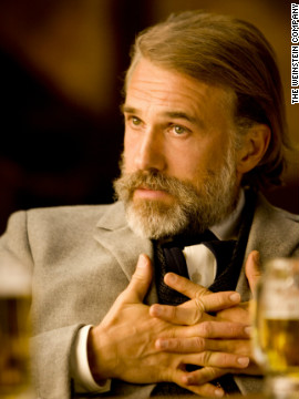 "The actor won the first award of the night for his portrayal of the German bounty hunter, Dr. King Schultz, in ""Django Unchained."""