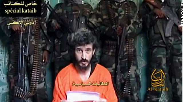 TV grab of footage shows Denis Allex, a French hostage allegedly held by Somali militants, 12 January 2013.