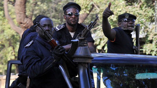 Malian police patrol in the capital of Bamako on Sunday, January 13.